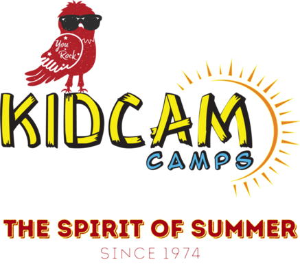 KidCam Camp logo with red bird