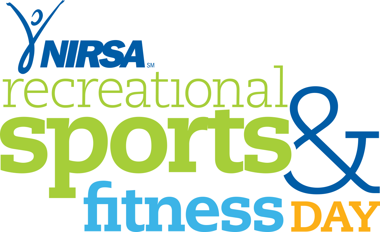 "Text saying ""NIRSA's National Recreational Sports and Fitness Day"